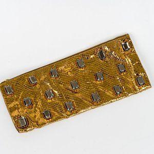 NWT Prada copper python Jeweled clutch